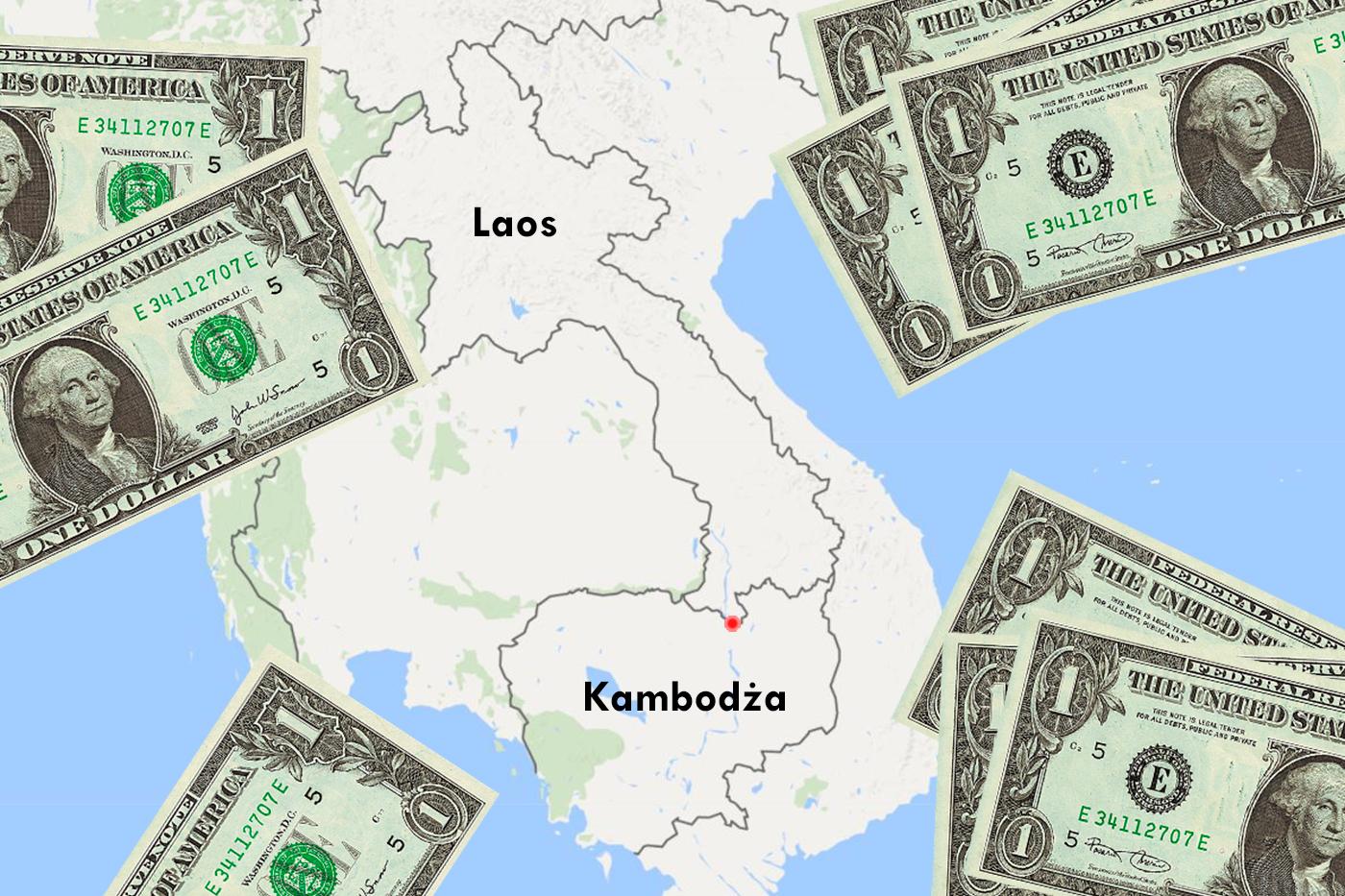 Granica między Laosem i Kambodżą