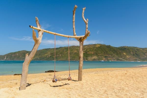 Huśtawka na plaży Kuta