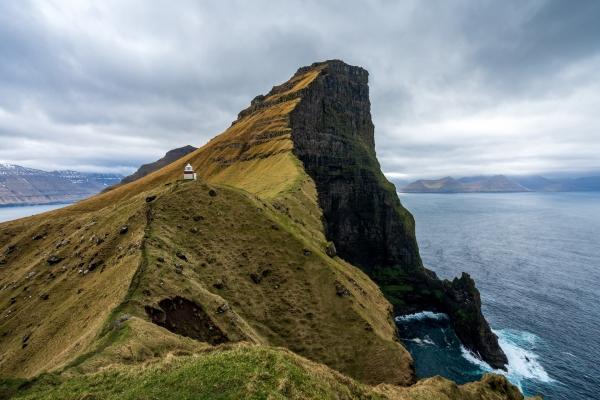 Latarnia Kallur położona na klifie