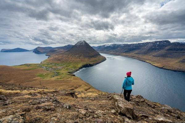 Podzwiając wyspę Viðoy z góry
