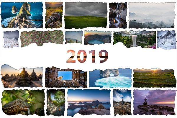 Kolaż zdjęć z roku 2019